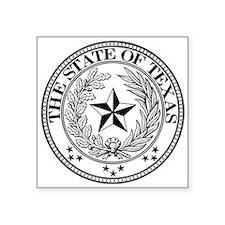 "Texas State Seal Symbol Square Sticker 3"" X 3"