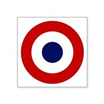 French Air Force Roundel Symbol Square Sticker 3&q