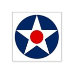 Usa Air Corp Roundel Symbol Square Sticker 3""