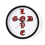 LOVE GOD -CROSS- CHRISTIAN Wall Clock