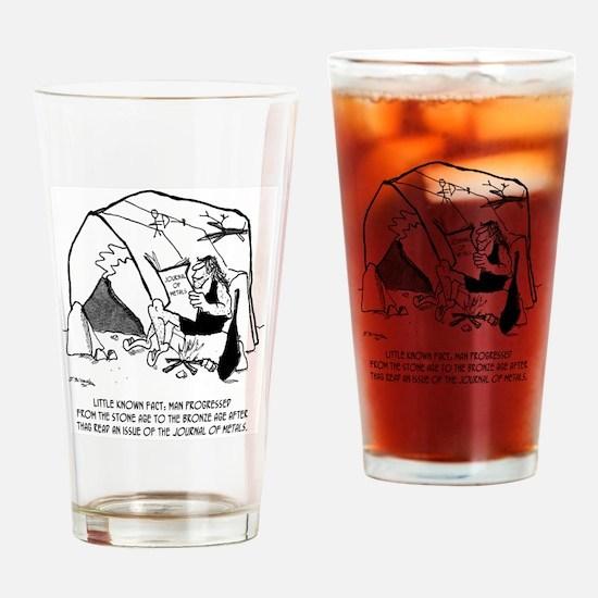 Anthropology Cartoon 1938 Drinking Glass