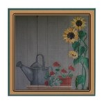 Watercan and Sunflowers Tile