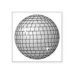"""Disco Ball Symbol Icon Square Sticker 3"""" X 3&"""