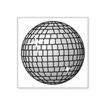 "Disco Ball Symbol Icon Square Sticker 3"" X 3&"