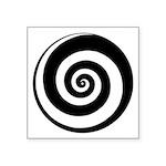 """Spiral Time Tunnel Symbol Square Sticker 3"""" X"""