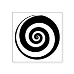 "Spiral Time Tunnel Symbol Square Sticker 3"" X"