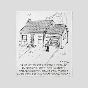 Scientist Cartoon 1936 Throw Blanket