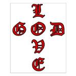 LOVE GOD -CROSS- CHRISTIAN Small Poster