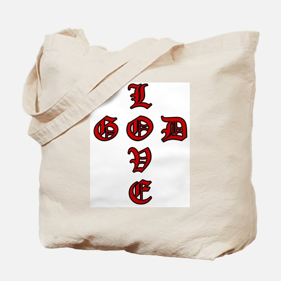 LOVE GOD -CROSS- CHRISTIAN BIBLE Tote Bag