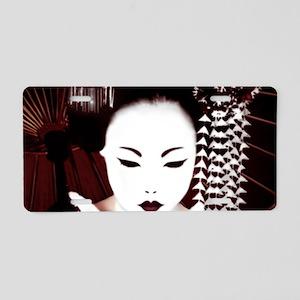 Geisha Aluminum License Plate