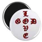 """LOVE GOD -CROSS- CHRISTIAN 2.25"""" Magnet (100 pack)"""