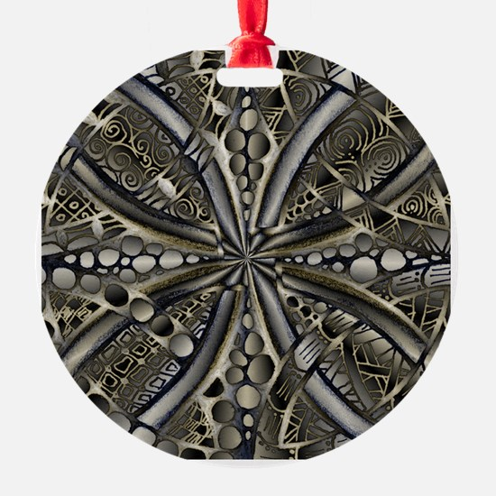 Blue Black Gold Silver Celtic Knot Ornament