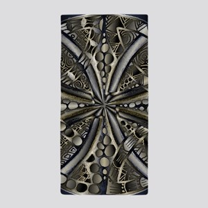 Blue Black Gold Silver Celtic Knot Beach Towel