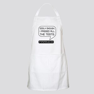 Franco Passed Tests Black on White Apron