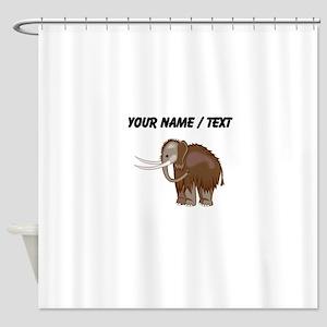 Woolly Mammoth (Custom) Shower Curtain