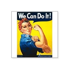 Rosie The Riveter Wwii Poster Square Sticker 3&quo