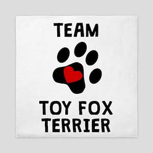 Team Toy Fox Terrier Queen Duvet