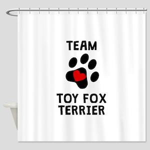 Team Toy Fox Terrier Shower Curtain