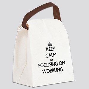 Keep Calm by focusing on Wobbling Canvas Lunch Bag