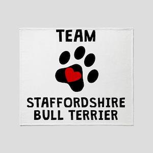 Team Staffordshire Bull Terrier Throw Blanket