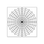 """Spider Web Symbol Square Sticker 3"""" X 3"""""""