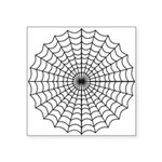 "Spider Web Symbol Square Sticker 3"" X 3"""