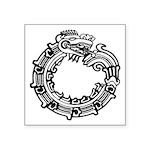 """Aztec Ouroboros Symbol Square Sticker 3"""" X 3&"""