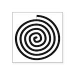 Native American Spiral Symbol Square Sticker 3&quo