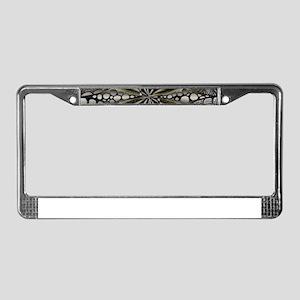 Blue Black Gold Silver Celtic License Plate Frame