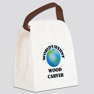 World's Sexiest Wood Carver Canvas Lunch Bag