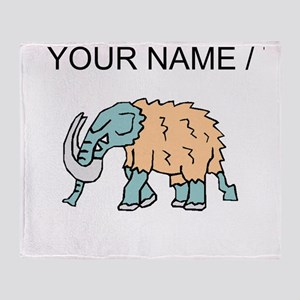 Woolly Mammoth (Custom) Throw Blanket