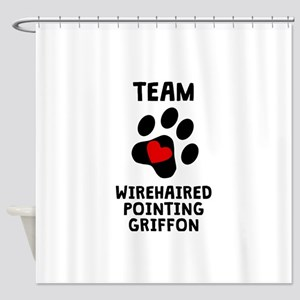Team Wirehaired Pointing Griffon Shower Curtain