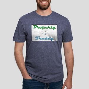 Property Of Freddy Male Mens Tri-blend T-Shirt