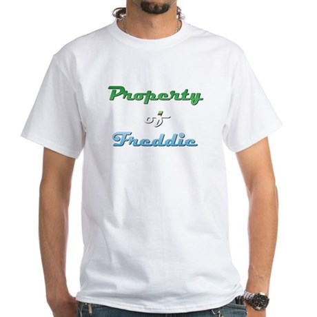 Property Of Freddie Male White T-Shirt