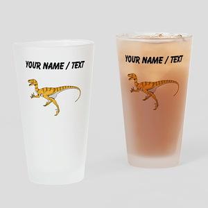 Velociraptor (Custom) Drinking Glass