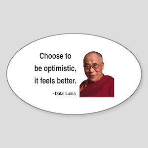 Dalai Lama 6 Oval Sticker