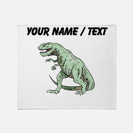 Tyrannosaurus Rex (Custom) Throw Blanket