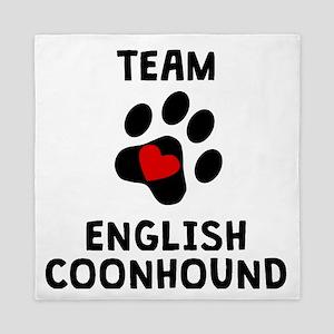 Team English Coonhound Queen Duvet