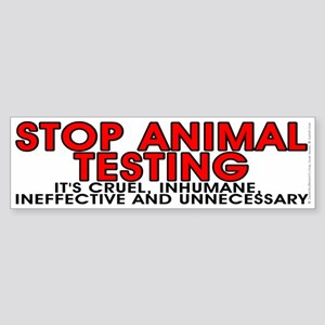 Stop animal testing - Sticker (Bumper)
