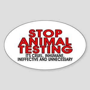 Stop animal testing - Sticker (Oval)