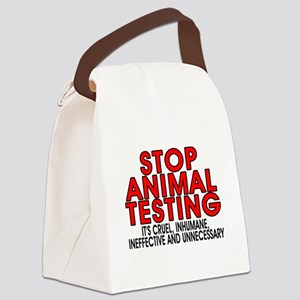 Stop animal testing - Canvas Lunch Bag