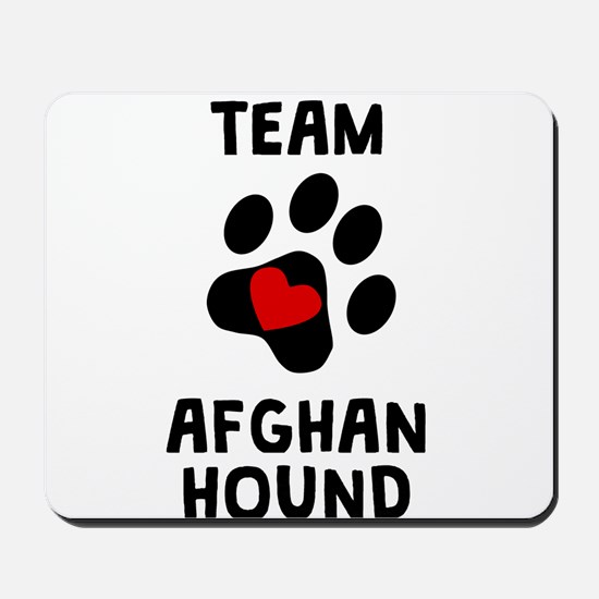 Team Afghan Hound Mousepad