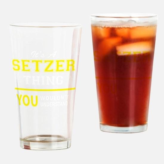 Cute Setzer Drinking Glass