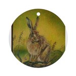 Rabbit by Wendy Sterling Ornament(Round)