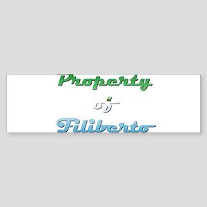 Property Of Filiberto Male Sticker (Bumper)