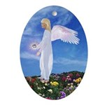 Birthday April Angel : Oval Ornament