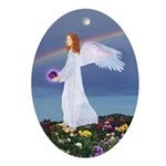 Birthday Feb. Angel : Oval Ornament