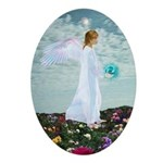 Birthday March Angel : Oval Ornament