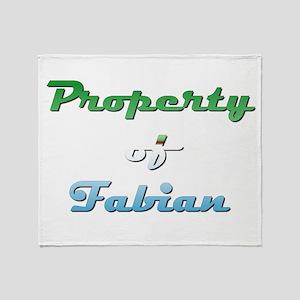 Property Of Fabian Male Throw Blanket