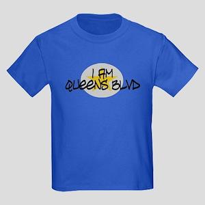 I am Queens Blvd 2 - Gold Kids Dark T-Shirt